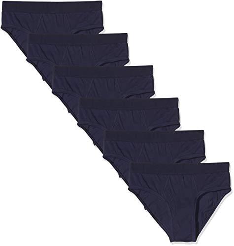 Amazon-Marke: MERAKI Herren Slip aus Baumwolle, 6er-Pack, Blau (Navy), L, Label: L