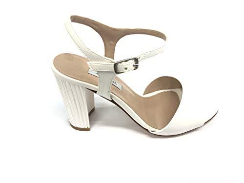 ALBANO Scatola L'Amour Art.931 Sandalo Elegante Donna Pelle Moda (Bianco, 37)