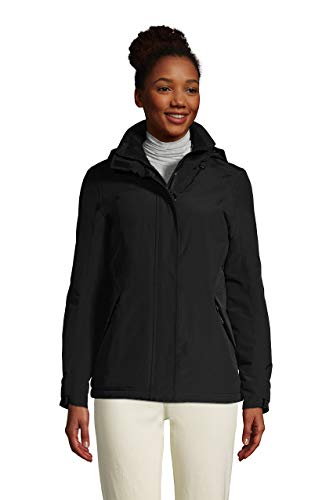 Lands' End Wms Squall Insulated Winter Jacket Black Regular Large