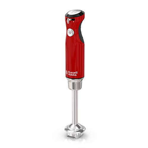 Russell Hobbs HB3100RDR Retro Style Immersion Blender, 1.0L Capacity Beaker, Red