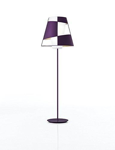 Pallucco Crinolina Terra 68 Viola Fluo, lampada da terra 68cm