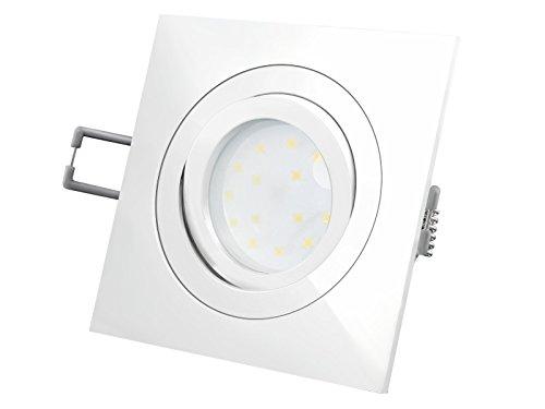 Foco LED empotrable con luz blanca cálida RF-2/QF-2 mit FM-1, Weiß - Eckig 5.00 wattsW 230.00 voltsV