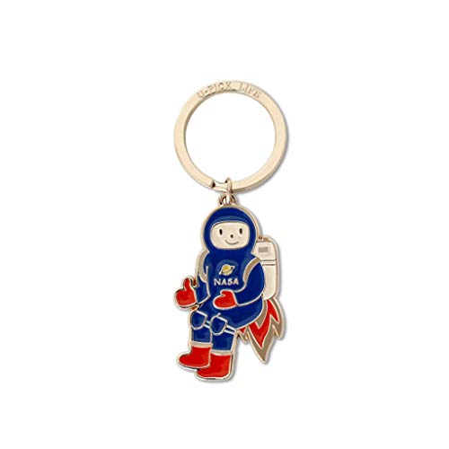 Cute Keyring Planet Keychain Pendant Astronaut Key Chain Car Keychains Couple Keyring Cute Keychain for Girlfriend or Boyfriend Gift for Women (Color : Astronaut)