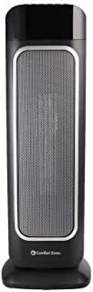 Comfort Zone CZ523RBK Oscillating Digital Tower Heater with Thermostat and Remote Control, Black