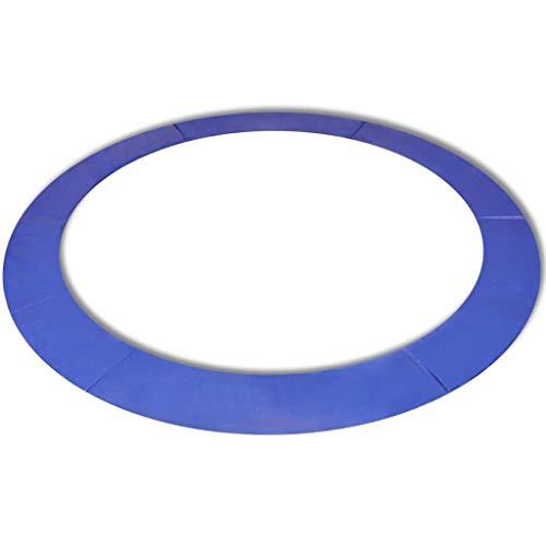 vidaXL Alfombrilla de Seguridad de Cama elástica Redonda 3,96m Azul PE