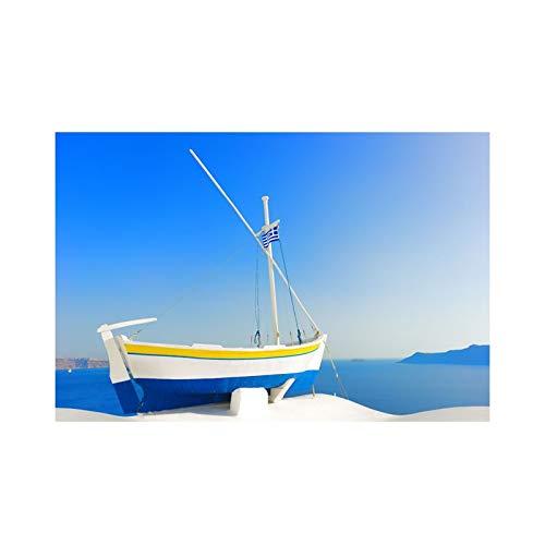 wtnhz Kein Rahmen Kunst Leinwand Gemälde Griechisches Gebäude Santorini Cuadros Landschaft Poster und Drucke Home Decor Wandkunst Bilder 40x60cm