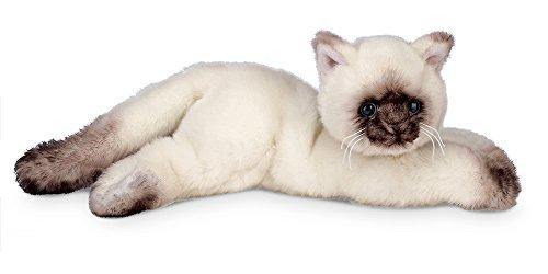 """Bearington Cleo Plush Stuffed Animal Siamese Cat, Kitten 15"""""""