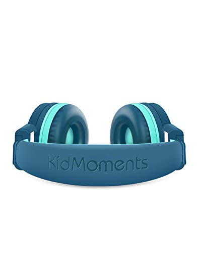 KidMoments K12 Kids Headphones with 85dB Volume Limited Hearing Protection,Made of Food Grade Material,BPA-Free,Tangle-Free Cord,Wired On-Ear Hea   dphones for Children,Toddler,Baby