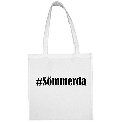 Tasche #Sömmerda Größe 38x42 Farbe Weiss Druck Schwarz