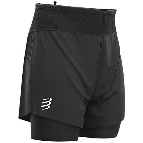 COMPRESSPORT Trail 2-in-1 Shorts Herren Black Größe L 2020 Laufsport Shorts