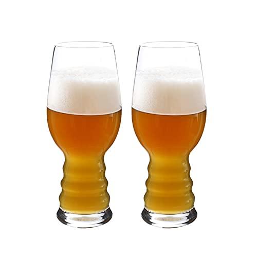 Gran Capacidad Jarra de Cerveza Taza de cerveza Gafas Gafas Cerveza Embarcaciones Juego de utensilios de agua de 2 -Alto Cristalería para la cerveza Batidos de frutas de vino Café helado -17 oz Set de