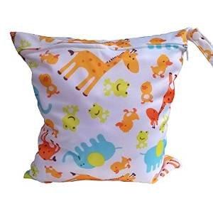 Ma-on imperméable et lavable Fermeture Éclair Chiffon Sac à langer (Giraffe Pattern)