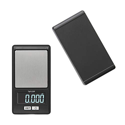 Taylor Precision Products Taylor High-Precision Digital Portioning Scale with Cover, 16OZ 500G, Black