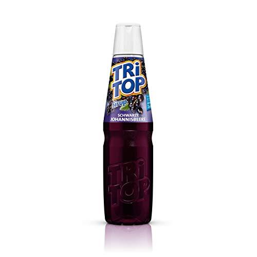 TRi TOP Getränkesirup Schwarze Johannisbeere 1 x 600ml | Sirup für Wassersprudler | 1 Flasche ergibt ca. 5 Liter Erfrischungsgetränk