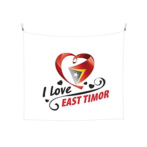 Tapisserie mit Flagge, Osttimor, Wandbehang, Boho, beliebt, mystisch, Trippy, Yoga, Hippie, Wandteppiche für Wohnzimmer, Schlafzimmer, Wohnheim, Heimdekoration, schwarz & weiß, Stranddecke