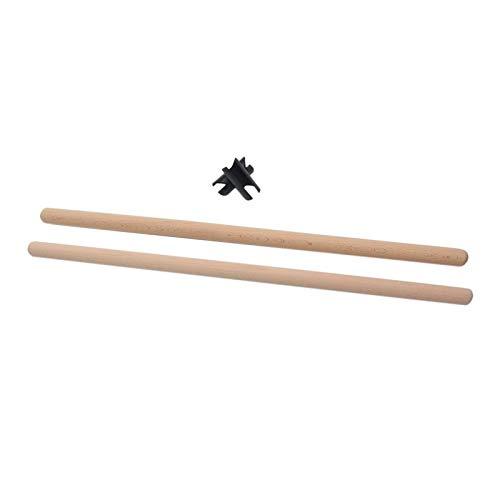 Matedepreso 2 unids/set Yoga Sticks Estiramiento Herramienta para Gimnastas Deportes Interior Cuerpo Shaping (tamaño: 50x2 cm)