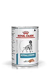 Royal Canin Hypoallergenic Veterinary Health Nutrition Dog Food Wet Loaf Can 12 x 400g Specific Omega 3 long chain fatty acids which support digestive and skin health A specially formulated complex of nutrients to support the skin's natural protectiv...