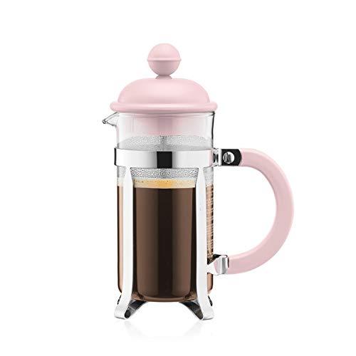 Bodum 1913-340B-Y19 CAFFETTIERA Kaffeebereiter mit Kunststoffdeckel, 3 Tassen, 0.35 l, Edelstahl, Glas