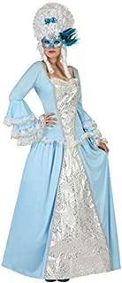 Ladies Blue Masquerade Renaissance Georgian Courtesan Marie Antoinette Fancy Dress Costume Outfit UK 8-18
