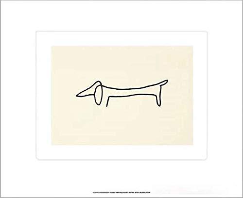 Kunstdruck/Poster: Pablo Picasso Der Hund - hochwertiger Druck, Bild, Kunstposter, 60x50 cm