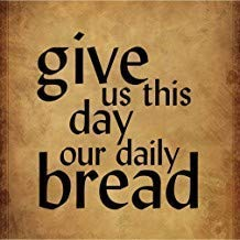 Fabri.YWL Give Us This Day Our Daily Bread Funny Spiritual #1 Funny Metal Signs Vintage Retro Metal Tin Sign Plate for Bedrooms Decor