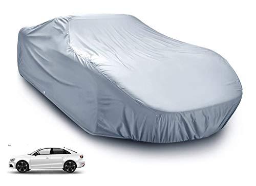 Autoschutzhülle Auto Abdeckung - Car Cover - Silber Hülle wasserdicht - für alle Arten von PKW / KFZ Autoabdeckung Abdeckplane (1x)