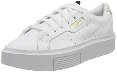 adidas Sleek Super W, Scarpe da Ginnastica Donna, Bianco (Ftwr White/Crystal White/Core Black), 39 1/3 EU