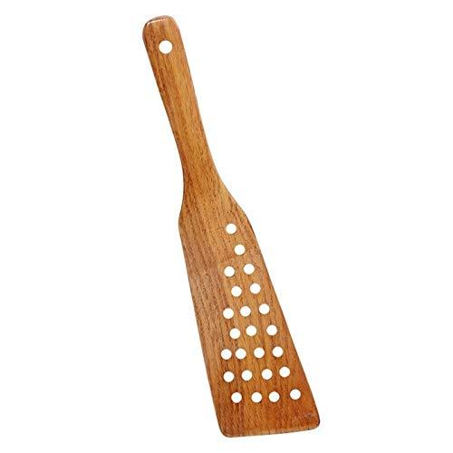Espátula de madera de madera pala for la cacerola antiadherente de arroz cuchara de la cocina que cocina la herramienta espátula de madera Utensilios de cocina Accesorios Gadgets (Color : Wood)