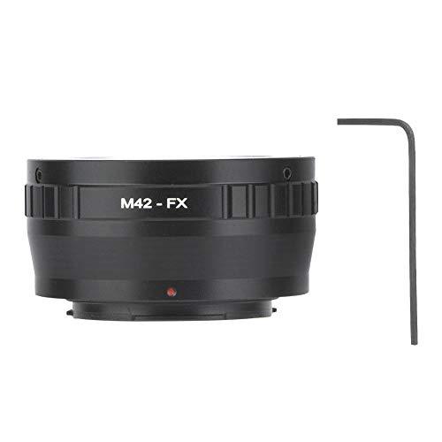 Convertitore ad anello per fotocamera, adattatore adattatore per obiettivo in metallo M42-FX Anello per obiettivo con attacco M42 per fotocamera mirrorless Fujifilm FX, dimensioni compatte e facile da