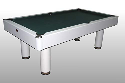Tavolo da Biliardo trasformabile in Tavolo da Pranzo e Ping Pong Fenice Bianco - Carambola - (216 cm...