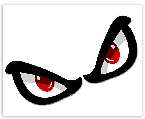 SkinoEu® 1 Paar Vinyl Aufkleber Autoaufkleber No Fear Eyes Augen Racing Rallye Stickers Auto Moto Motorrad Fahrrad Fenster Tür Tuning B 66