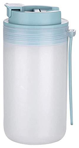 Youdert Botella de Agua con Paja, Botella portátil a Prueba de Fugas con Escala para Fitness, Gimnasio, Camping, Deportes al Aire Libre (Color : Green)