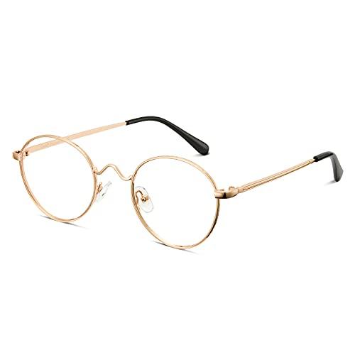 Cyxus filtro luce blu occhiali moda occhiali dormire meglio [trasparente lente] Anti affaticamento degli occhi (Oro Telaio)…