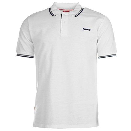 Slazenger Tipped Herren Polo Poloshirt T Shirt Kurzarm Classic Fit Tee Top M