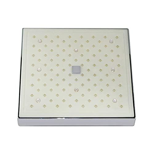 Cabezal de ducha fijado LED - Ducha de control de temperatura 3 Color Cambio de agua Flujo de agua Powered - Accesorios de cabezal de cabecera de lluvia cuadrada de 8 pulgadas de alta presión para bañ