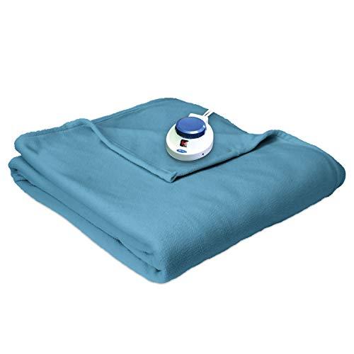 SoftHeat Luxury Fleece Electric Heated Blanket with Safe & Warm...
