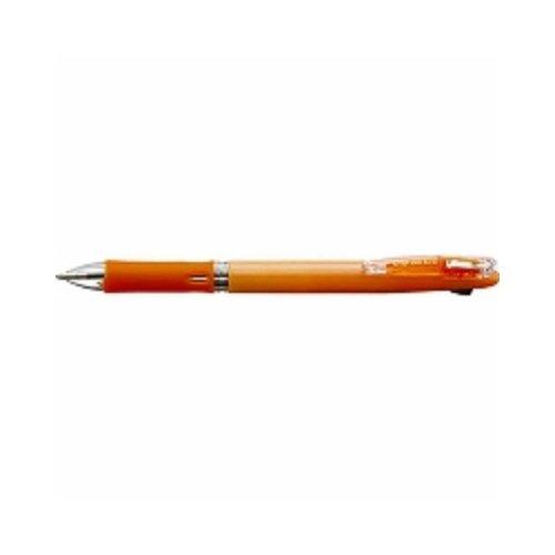 油性ボールペン クリップ-オン スリム 2C [黒/赤] 0.7mm パステルオレンジ B2A5-WOR