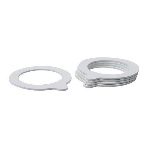 Weiße Gummidichtung von Ikea Korken,5Stück,180x 200cm
