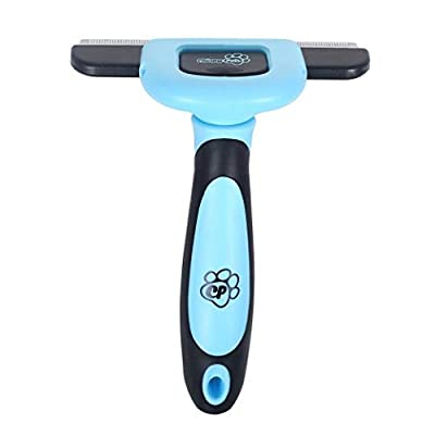 Chirpy Pets Dog & Cat Brush for Shedding, Best Long & Short Hair Pet Grooming Tool, Reduces Dogs and Cats Shedding Hair by More Than 90%, The Deshedding Tool from Chirpy Pets