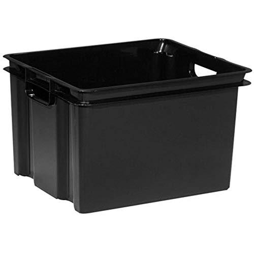KETER | Bac Vulcano 30L, Noir, 36,3 x 42,5 x 26,3 cm, Plastique recyclé