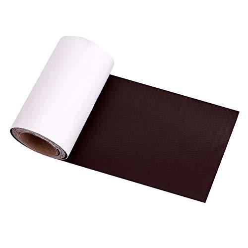 AIEX 10x120cm Lederreparaturband Selbstklebendes Lederreparaturpflaster für Couch, Sofas, Handtaschen, Jacken, Möbel, Autositze (Dunkelbraun)