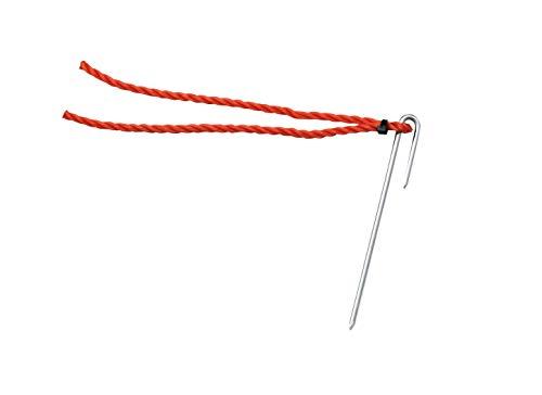 TOEI LIGHT(トーエイライト) ポイントマーカー15 赤 グランド整備 同色10本1組 カラー:赤 ポリエチレンロープ5mm×20cm 杭4mm×15cm G1238R