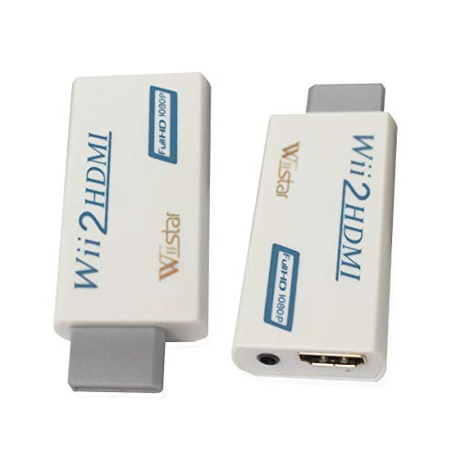 Wiistar Wii to HDMI Converter Output Video Audio Adapter HDMI Converter - Supports All Wii Display Modes to HDTV & Monitor