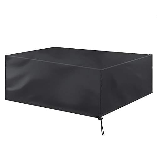 XXYANZI Funda Sofa Exterior Impermeable 330x220x70cm, Rectangular Funda Protectora Muebles Anti-UV Transpirable Resistente al Polvo, para Muebles Terraza y Jardin Exterior. - Negro
