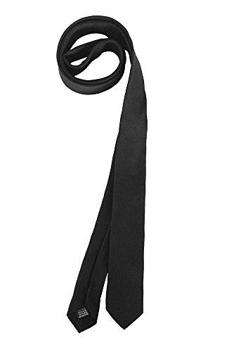 tessago Cravatta 100% SETA colore nero pala 5 cm collezione Made in Italy
