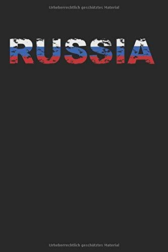 Russia: Notebook Notizbuch Register Karo Kariert Journal Din A5 150 Seiten Matheheft I Schulheft I Skizzenbuch I Tagebuch I Ideenbuch I Russland I Russia Russen Flagge Fahne