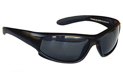Gil SSC Sportbrille Sonnenbrille Radbrille Bikerbrille Motorradbrille Schwarz Black M 2 (Schwarz)