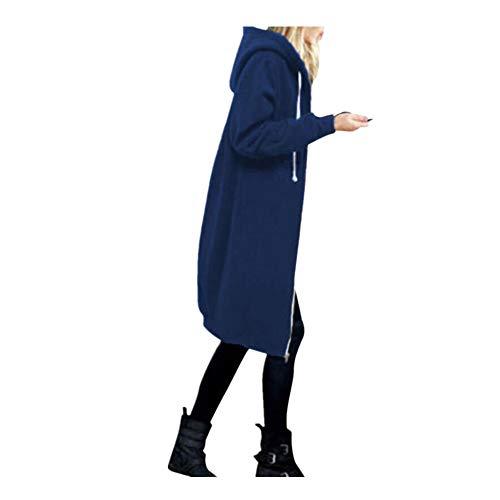 iHENGH Damen Jacke Dicker Warm Bequem Lose Parka Mantel Frauen Lässig Stilvoll Woolen mit Kapuze dünnen Hoodies Top