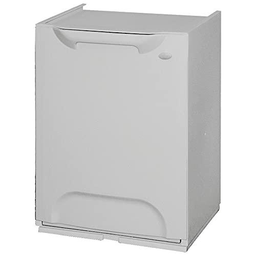 Art Plast ZA1488 Papelera reciclaje en polipropileno color gris, con depósito en el interior, 20 litros, 47x34x29