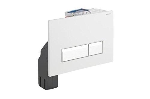 Geberit, Sigma40, 115600KQ1, bedieningsplaat voor 2 hoeveelheden spoeling met geurafzuiging, geborsteld, wit/aluminium